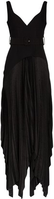 SOLACE London Junee pleated maxi dress