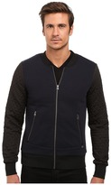 Scotch & Soda Zip Thru Sweater with Jacquard Sleeves