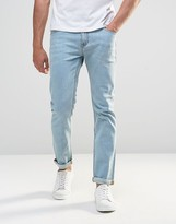 Asos Stretch Slim Jeans In Light Wash