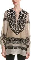 Hale Bob Embellished Silk Tunic