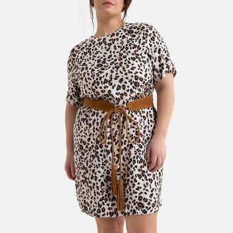La Redoute Collections Plus Leopard Print Shift Dress