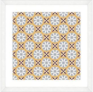 Vintage Print Gallery Exotic Opulent Tiles Iii Framed Graphic Art