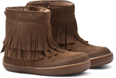 Mayoral Brown Fringe Zip Ankle Boots