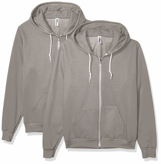 Marky G Apparel Men's Flex Fleece Full-Zip Hooded Sweatshirt (2 Pack) Jacket (2 Packs)