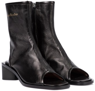 Acne Studios Peep-toe leather ankle boots