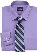 STAFFORD Stafford Travel Easy-Care Dress Shirt & Tie Set - Big And Tall