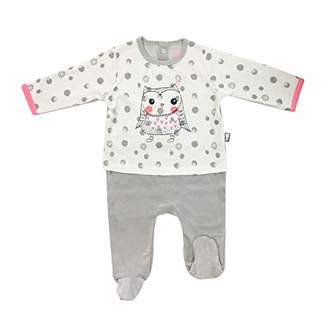 Camilla And Marc Baby Pyjamas Velvet Effect 2 Pieces Icebird - Size 6 Months (68 cm)