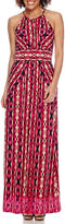 London Times London Style Collection Sleeveless Halter Maxi Dress - Petite