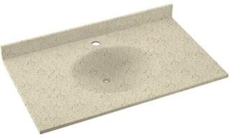 "Swan Ellipse Solid Surface 55"" Single Bathroom Vanity Top Top Finish: Tahiti Desert"
