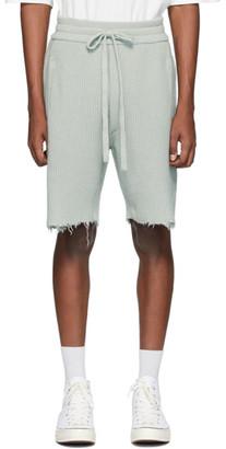 Alanui Grey Cashmere Bermuda Shorts