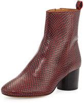 Isabel Marant Deyissa Python-Embossed Boot, Red