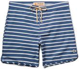 Mollusk Mid-Length Striped Cotton-Blend Swim Shorts