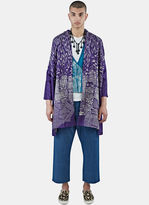 Swati Kalsi Men's Silk Long Wave Embroidered Coat In Purple