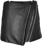 Barbara Bui Leather Mini-Skirt with Zip Detailing