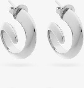 Bottega Veneta Coiled Sterling-silver Hoop Earrings - Silver