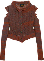 Vivienne Westwood Cropped Cutout Wool-blend Cardigan - Orange