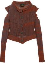 Vivienne Westwood Cropped Cutout Wool-blend Cardigan - S/M