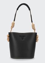 Prada City Knotted Rope Bucket Bag