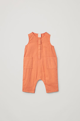 Cos Cotton-Linen Romper With Pockets