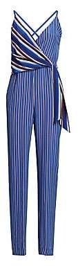Rag & Bone Women's Felix Striped Silk Jumpsuit - Size 0