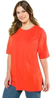 Ulla Popken Women's T-Shirt, Rundhals Regular Fit Short Sleeve T-Shirt,42/44 (Manufacturer Size: 42/44)