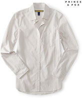 Aeropostale Womens Prince & Fox Striped Button Down Ivory
