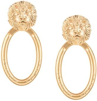 Natia X Lako Lion doorknocker earrings