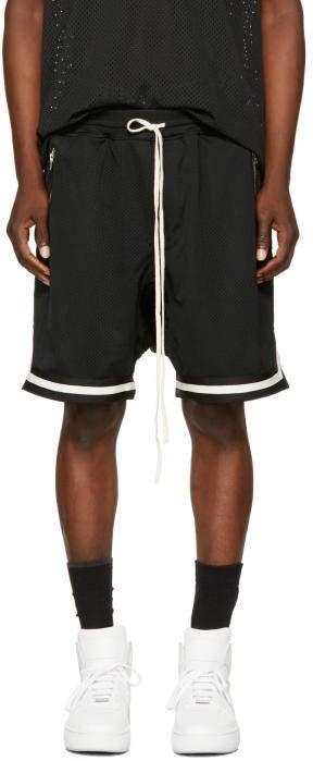 Fear Of God Black Dropped Mesh Lounge Shorts