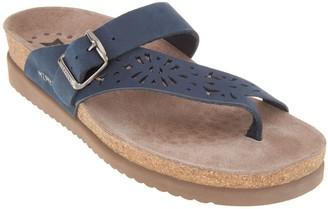 Mephisto Perforated Nubuck Toe Loop Sandals - Helen Perf