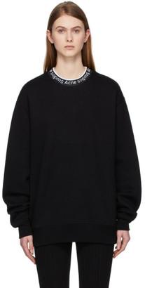 Acne Studios Black Logo Neck Sweatshirt