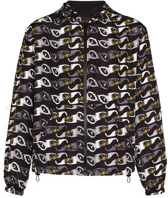 Versace Hooded Sunglasses-Print Jacket