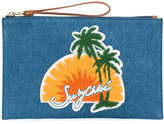 See by Chloe sunset and palm clutch bag - women - Cotton - One Size