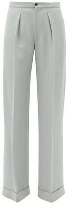 Connolly - Tailored Wide-leg Cotton Trousers - Grey