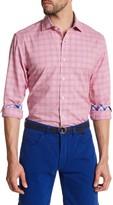 James Tattersall Long Sleeve Window Pane Classic Fit Shirt
