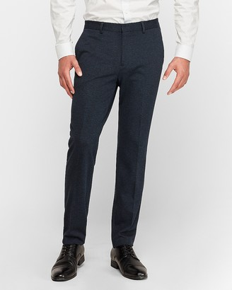 Express Slim Navy Luxe Comfort Knit Suit Pant