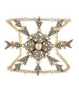 Alexis Bittar Pavé Crystal Snowflake Cuff Bracelet