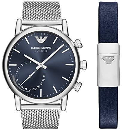 Emporio Armani Men's 'Hybrid' Quartz Stainless Steel Smart Watch