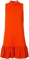 Trina Turk high neck frill dress - women - Polyester/Spandex/Elastane - M