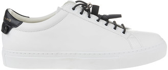 Givenchy White-black Woman Urban Street Sneakers With Sport Laces
