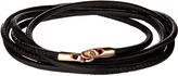 Luis Morais Rose-gold and leather bracelet