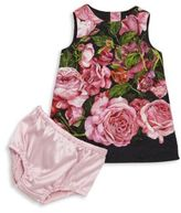 Dolce & Gabbana Baby's Two-Piece Rose Print Sleeveless Dress & Bloomers Set