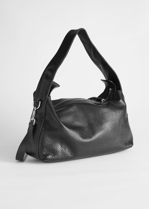 And other stories Slouchy Grained Leather Bag
