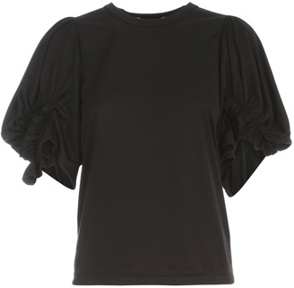 Comme des Garcons Polyester Jersey T-shirt Balloon Sleeves