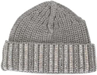Ermanno Scervino Embellished Knit Beanie