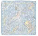 Hermes Remiges de Fuite Icarus Silk Pocket Square