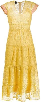 Pinko Panelled Lace Dress