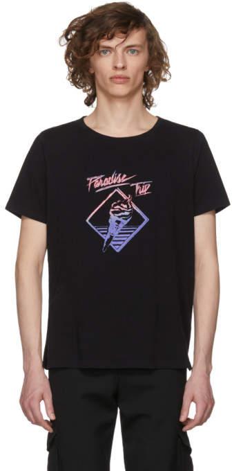 Saint Laurent Black Paradise Trip T-Shirt