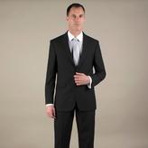 Karl Jackson Black Plain Weave Tailored Fit 2 Button Jacket