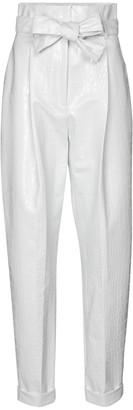 Philosophy di Lorenzo Serafini High-rise tapered croc-effect pants