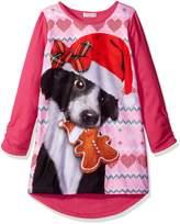 Komar Kids Big Girls' Sweater Dog Gown